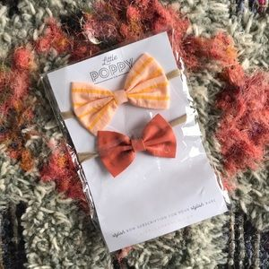 Little Poppy Bows August 2019 Collection (3 Bows)
